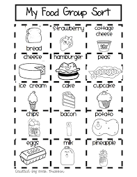 My First Grade Food Sort.pdf | Kindergarten | Pinterest | Preschool ...