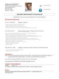 cv assistant administratif et commercial cv assistant cv assistant administratif et commercial pdf