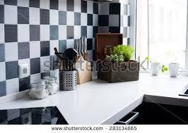 modern kitchen utensils. Kitchen Utensils, Decor And Kitchenware In The Modern Interior Close-up Utensils