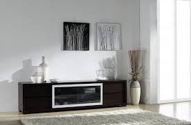 Furniture Accessories:Front Glass Wood Modern Media Console Table Front  Glass Wood Modern Media Console