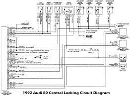 1992 audi 80 lock and alarm control unit wiring diagram audio 1992 audi 80 lock and alarm control unit
