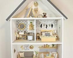 Image Miniio Dollhouse Wooden Handmade Modern Miniature 112 Scale The Interiors Addict Modern Dollhouse Furniture Etsy