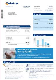 phone bill example telstra bill scott utility bill pinterest latest mobile and