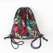 Drawstring Bag Pattern Beauteous 48 New Ethnic Summer Vintage Drawstring Backpack Bag Bohemian Leaf