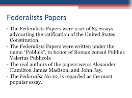 constitution powerpoint federalists papers