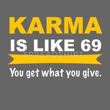 Karma Lustig 69 Geschenk Spruch Snapback Cap Spreadshirt