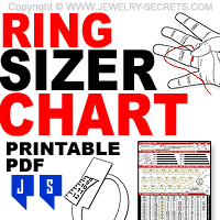 Free Size Chart Template Free Printable Ring Finger Size Chart Jewelry Secrets