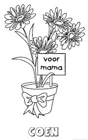 Coen Moederdag Naam Kleurplaat