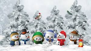 Colorful Snowmen Winter Nature Background Wallpapers On