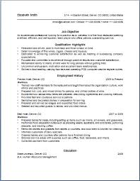 Waitress Resume Sample Resume Job Objective Qualification Highlight ...