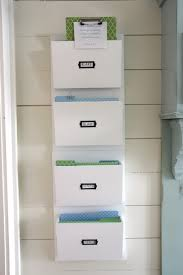office hanging organizer. White Color Hanging Wall File Or Mail Organizer With 4 Pockets For Rustic Home Office Design Wood Ideas O