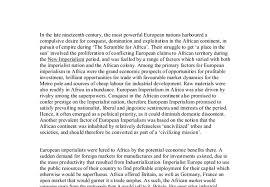 european imperialism in africa essay african imperialism essays