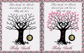 Other U2013 Baby Shower Printable Thumbprint Tree Guest Book U2013 A Fingerprint Baby Shower Tree