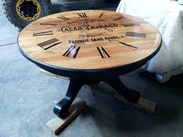 clock face coffee table round coffee table french chocolate ad w clock face distressed home design