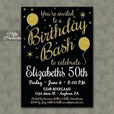 50th birthday invitations free printable personalised 50th birthday invitation cards 50 templates