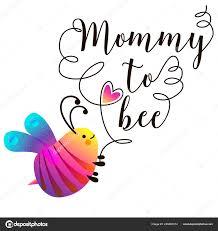 modèle d invitation de bébé avec texte maman d abeille conception de cartes mignon avec des abeilles ilration vectorielle
