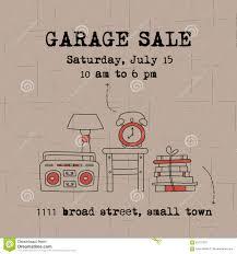 Garage Sale Banner Stock Vector Illustration Of Postcard 83170370