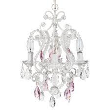 beautiful mini plug in chandelier 2 3 light glass pendant elegant josephine pink crystal beaded white nursery of