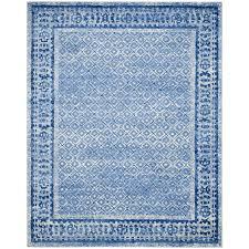 safavieh adirondack tabriz silver blue indoor lodge area rug common 6 x 9