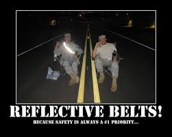 Reflective Belts - Imgur via Relatably.com