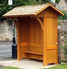 bus shelter wood | Where an existing bus shelter is being replaced this is  usually the