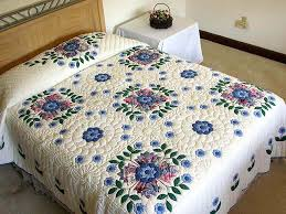 Harrison Rose Quilt -- gorgeous well made Amish Quilts from ... & Blue and Rose Harrison Rose Quilt Photo 1 ... Adamdwight.com