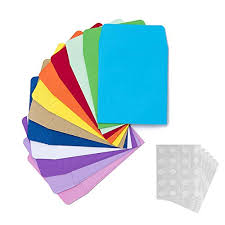 120 Pieces Non Adhesive Library Card Pockets Small Envelopes With