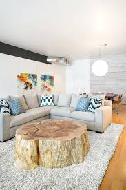 this stunning stump coffee table the coolest new decorating trend great tree decor ideas how does