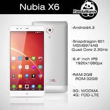 """ZTE Nubia x6 4G LTE Cellphones 6.4"""" IPS ..."""