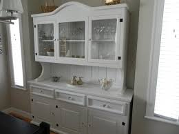 alluring white french kitchen buffet featuring upper glass door china cabinets with center glass pull drawers and bottom raised panel door cabinets