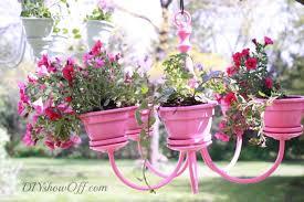 pink chandelier planter