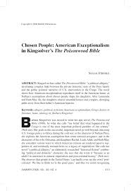 chosen people american exceptionalism in kingsolver s the  chosen people american exceptionalism in kingsolver s the poisonwood bible pdf available