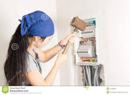 woman taking aim at an electrical fuse box stock photo image of fuse box problems 2007 pacifica woman taking aim at an electrical fuse box