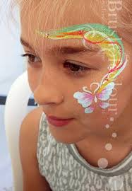 erfly rainbow face painting