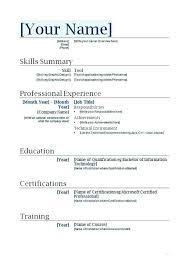 Resume Templates Microsoft Word 2010 Classy Resume Template For Word Mkma