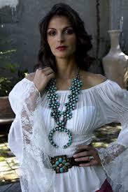 Marrika Nakk Designs Marrika Nakk Lace Peasant Blouse Western Chic Fashion
