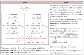 rational inequality with absolute value and quadratic formula