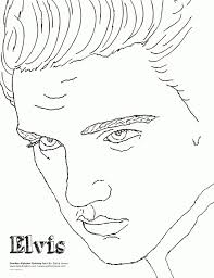elvis coloring pictures. Modren Pictures Elvis Presley Coloring Pages  Leversetdujourfo  Printable And Pictures G