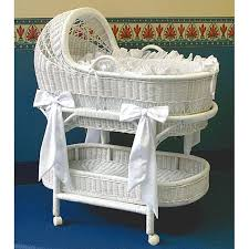 Shop LA Baby Wicker Bassinet and Bedding Set - Free Shipping Today ...