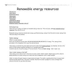 resources essay renewable resources essay