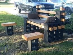 concrete block furniture. Concrete Block Furniture Ideas Cinder Bench Patio .