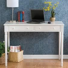 southern enterprises crisp white 2 drawer laptop writing desk hayneedle