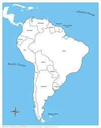 South America Control Map Labeled