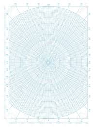 Blue Vector Polar Coordinate Circular Grid Graph Paper Graduated