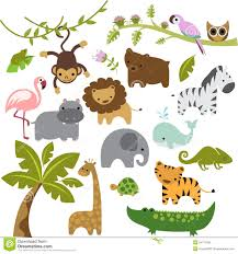 cute zoo animals clipart. Modren Animals Download Baby Zoo Animals Vector Clipart Stock  Illustration Of  Illustration Hippo 54713342 In Cute