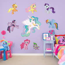 my little pony collection large officially licensed removable wall graphics fathead