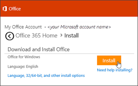 Office Dowload Download And Install Or Reinstall Office 365 Or Office 2019 On A Pc