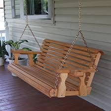 outside swing bench. Exellent Outside Amish Heavy Duty 800 Lb Roll Back 4ft Treated Porch Swing With Cupholders   Cedar Outside Bench Amazoncom