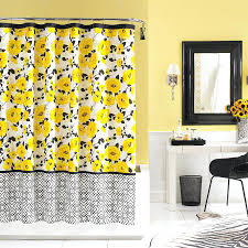 yellow and white gingham shower curtain smlf