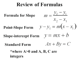 point slope formula how to write intercept form review of formulas for warm up solve each point slope formula